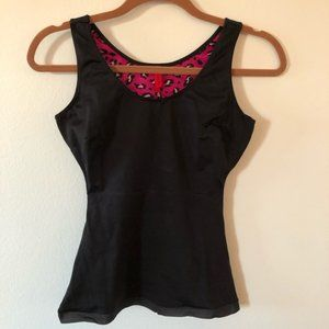 SPANX shaping tank with pink leopard lined medium